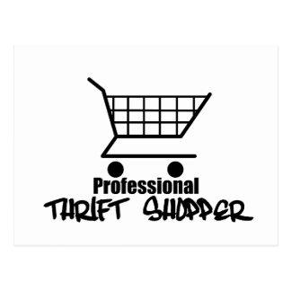 Professional Thrift Shopper Postcard