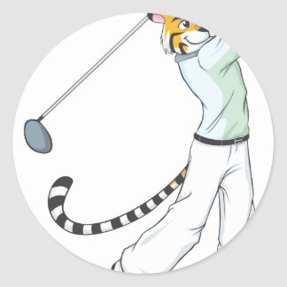 Professional Tiger Golfer Sticker