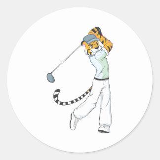 Professional Tiger Golfer Stickers