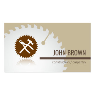 Professional Tools Construction Carpentry Handyman Business Card
