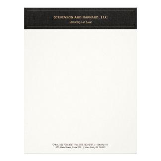Professional  Traditional Black Linen Letterhead