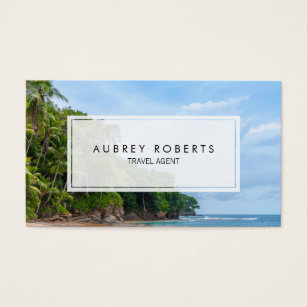Travel agent business cards templates zazzle professional travel agent tropical beach business card colourmoves Image collections