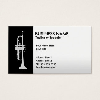 professional trumpet business card