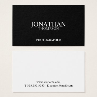 manadesignco Professional Two Tone Black and White Business Card