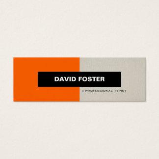 Professional Typist - Simple Elegant Stylish Mini Business Card