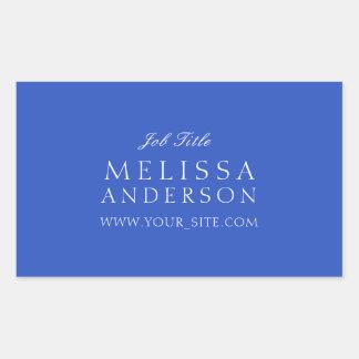 Professional Typography Cerulean Blue Rectangular Sticker
