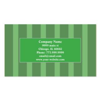 Professional Ultra Modern Mint Green stripped Business Card