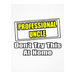 Professional Uncle...Don't Try This At Home Letterhead
