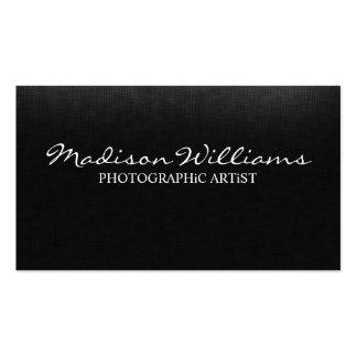 Professional Unique Elegant Photographic Artist Business Card