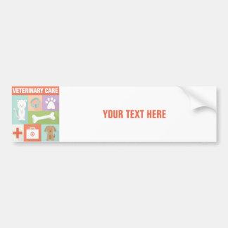 Professional Veterinarian Iconic Designed Bumper Sticker