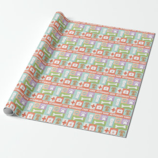 Professional Veterinarian Iconic Designed Wrapping Paper