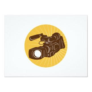 Professional Video Camera Camcorder Retro 6.5x8.75 Paper Invitation Card