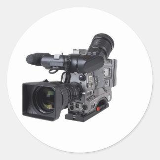 professional video camera classic round sticker
