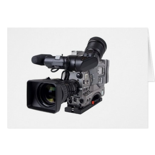 professional video camera greeting cards