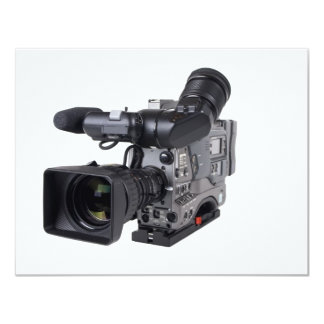 professional video camera personalized invitations