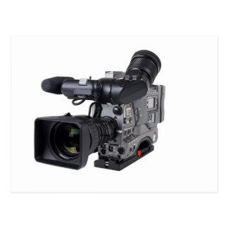 professional video camera postcard