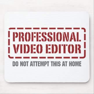 Professional Video Editor Mouse Pad