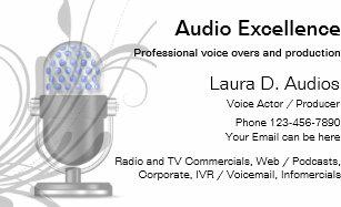 Voice over business cards templates zazzle professional voice actor business cards colourmoves