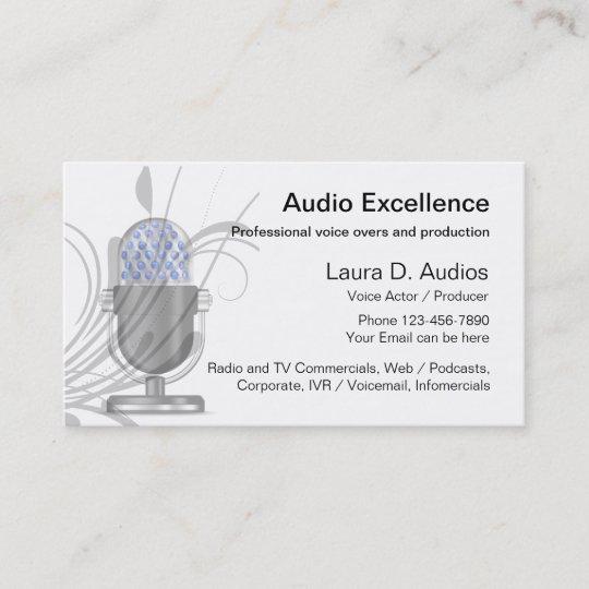 Professional voice actor business cards zazzle professional voice actor business cards colourmoves