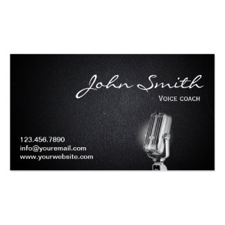 Professional Voice Coach Dark Business Card