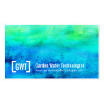 Professional water blue green business cards