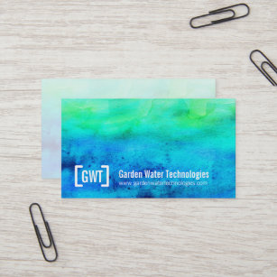 blue green business cards zazzle