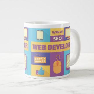Professional Web Developer Iconic Design Large Coffee Mug