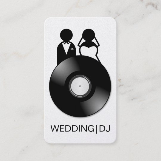 Professional wedding dj logo business cards zazzle professional wedding dj logo business cards reheart Image collections