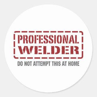 Professional Welder Classic Round Sticker