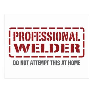 Professional Welder Postcard