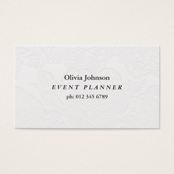Professional White Business Card | Non Embossed