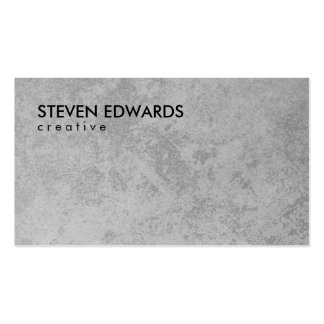 Professional white modern gray concrete minimalist Double-Sided standard business cards (Pack of 100)
