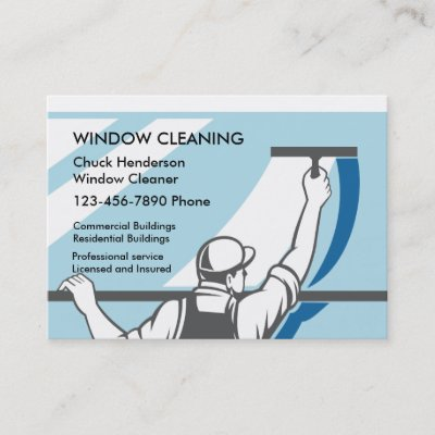 Window Washing Business Cards Zazzle