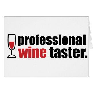 Professional Wine Taster Card
