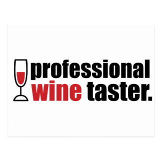 Professional Wine Taster Post Cards