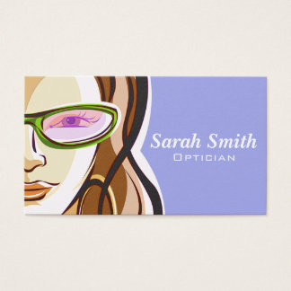 Professional Woman Optician Business Card