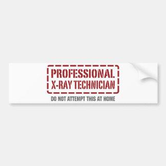 Professional X-Ray Technician Car Bumper Sticker