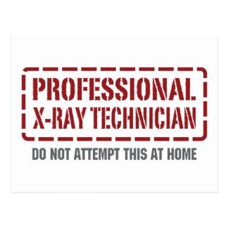 Professional X-Ray Technician Postcard
