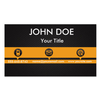 Professional Yellow Business Card Template