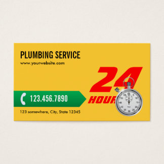 Professional Yellow Plumbing Service Business Card