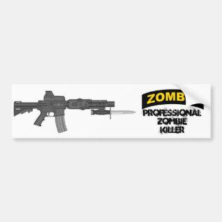 Professional Zombie Killer Bumper Sticker Car Bumper Sticker