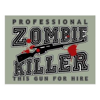 Professional Zombie Killer Postcard