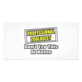 Professional Zoologist...Joke Customized Photo Card