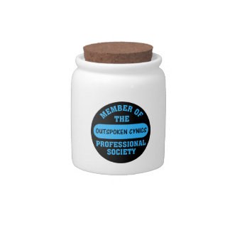 Professionally certified outspoken cynic for hire candy jars