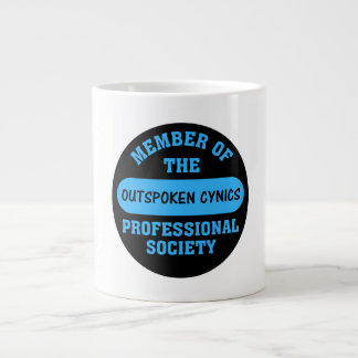 Professionally certified outspoken cynic for hire giant coffee mug