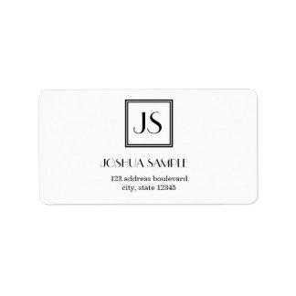Professionally Simple Address Label