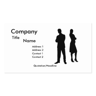 Professionals Sillouette Business Card