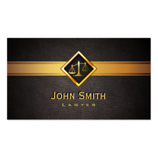 Professionl Gold Scale Lawyer/Attorney Business Card