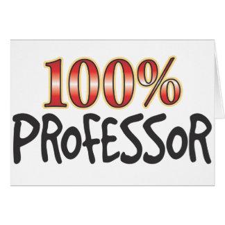 Professor 100 Percent Card