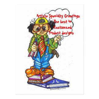 PROFESSOR, Artiste Specialty Greetings       Th... Postcard